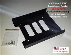 2.5 SSD to 3.5 HDD Bay Adapter Sku#- 111132
