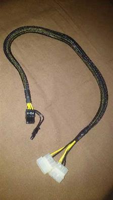 PCI-E Power Adapter, 2 x 4pin Molex to 1 x 6pin+2pin Sku#- 111117